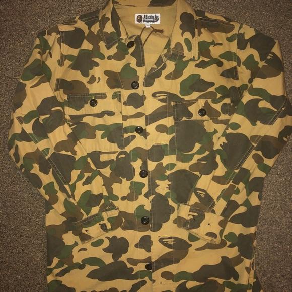 64937d36 Shirts | Bape Camo Button Down Shirt | Poshmark